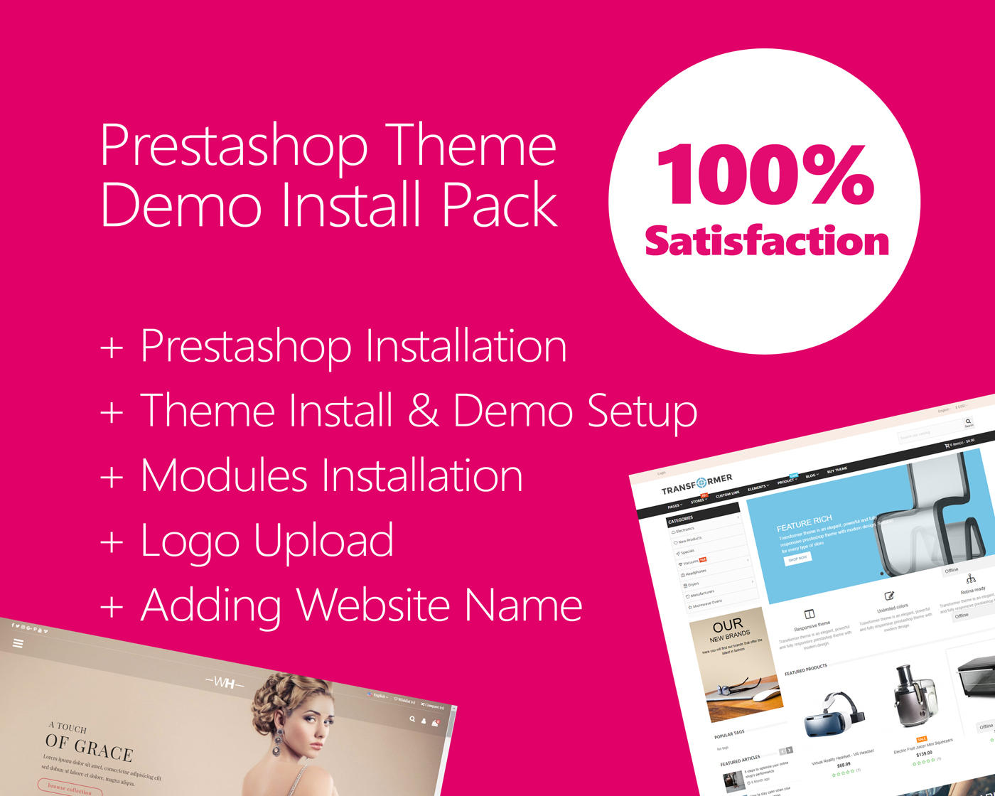 Prestashop Theme Install & Demo Setup (+ Logo Setup)