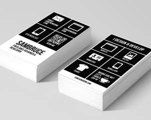 Minimal multipurpose business card by sambruce on envato studio colourmoves