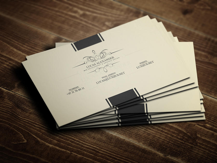 Exclusive Business Card Design by LucasAlexander - 364