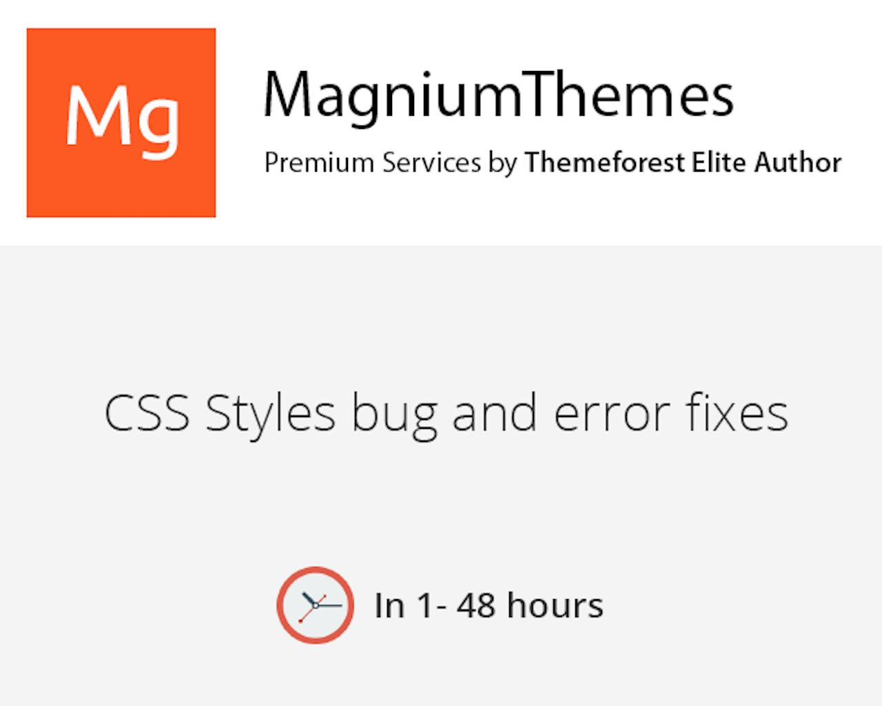 CSS Small bug fixes on any websites by dedalx - 105770