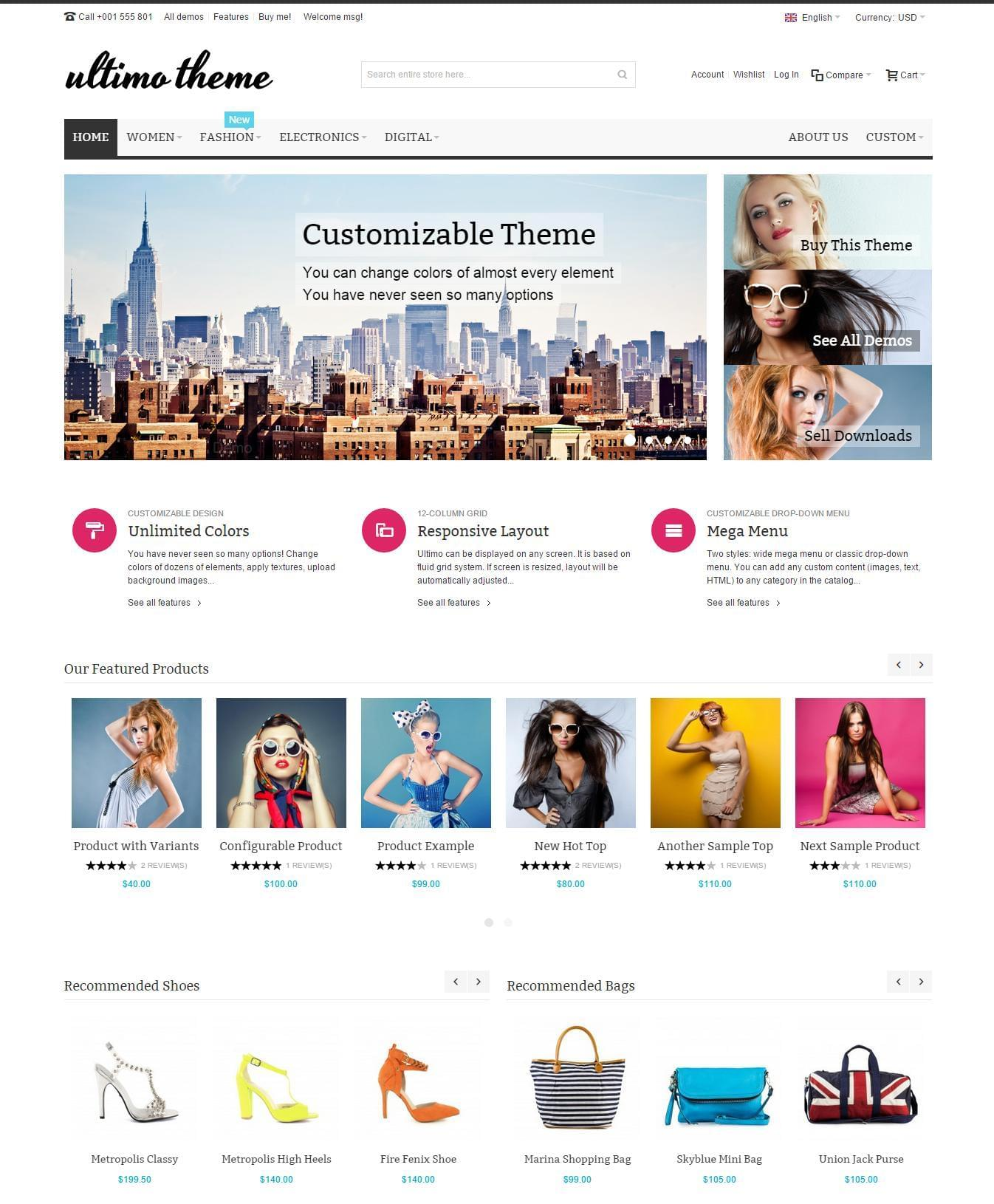 Magento Theme Installation Demo Import and Logo inc by ThemesPlace - 115552