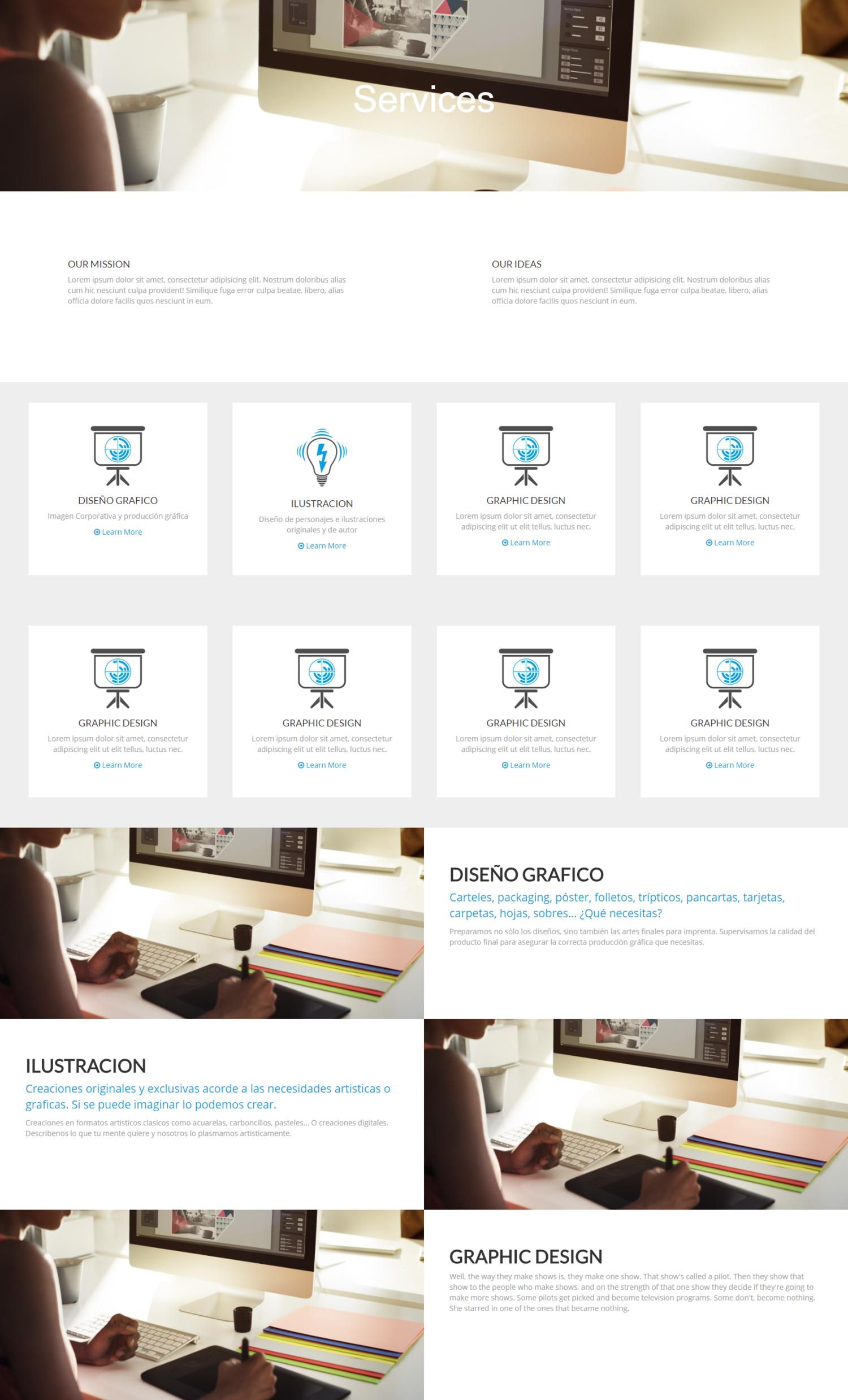 HTML or WORDPRESS custom website by RieraCreative - 106550