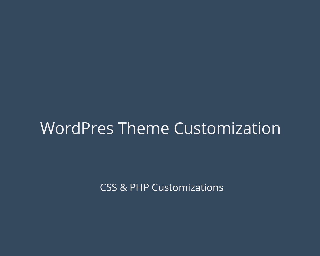 WordPress Theme Customization by DevPlus31 - 78350