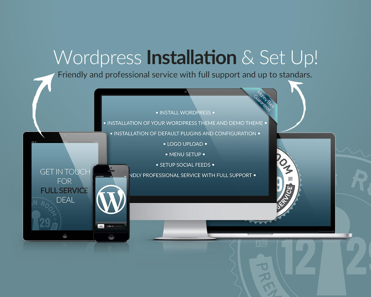 Install WordPress & Setup Theme, Demo Content, Plugins by DESIGNROOM1229 - 81024