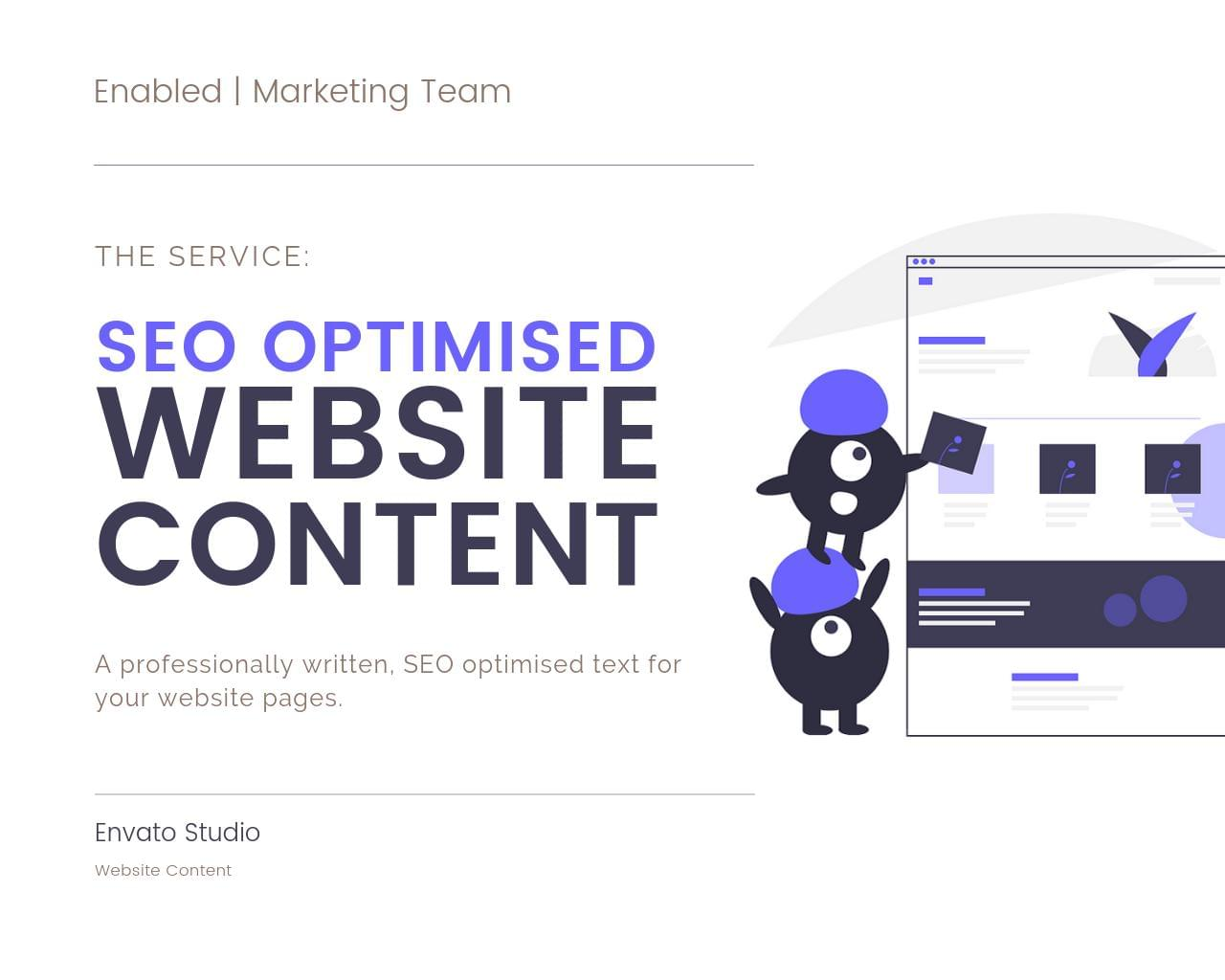 SEO Optimised Content - Complete Website by Enabled - 116340