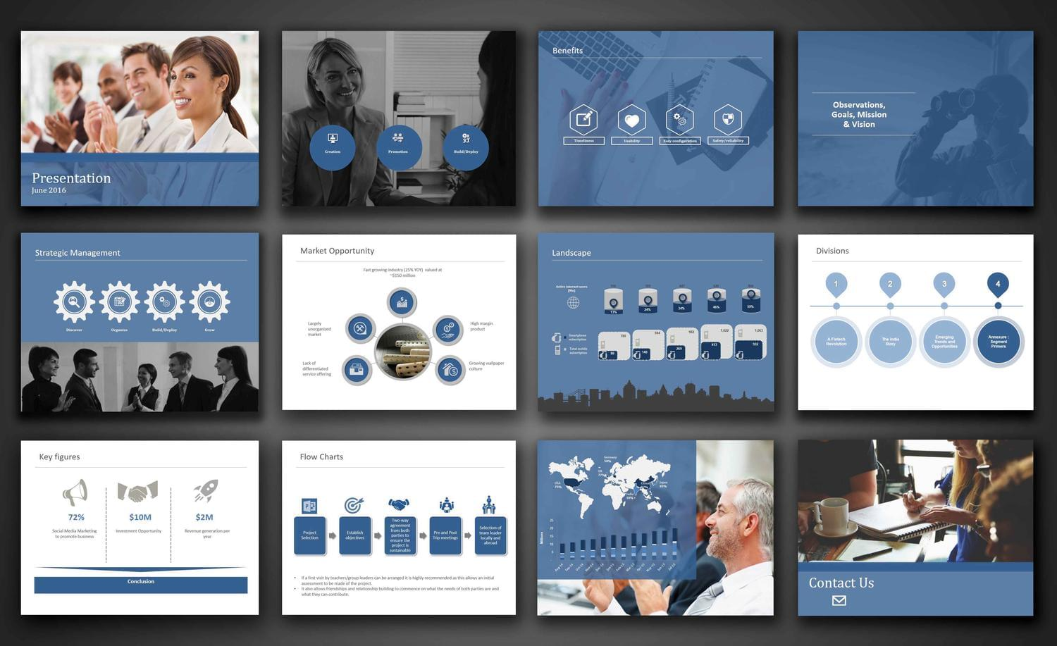 modern powerpoint presentation design by carlos fernando on envato