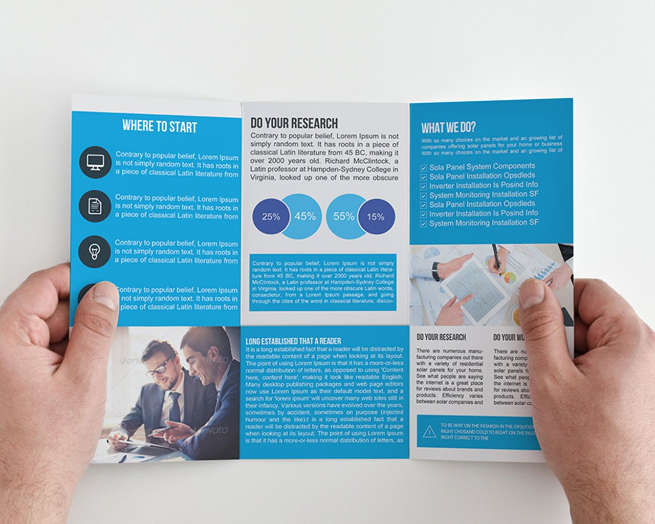 Tri Fold Brochure Design Insssrenterprisesco - Business tri fold brochure templates
