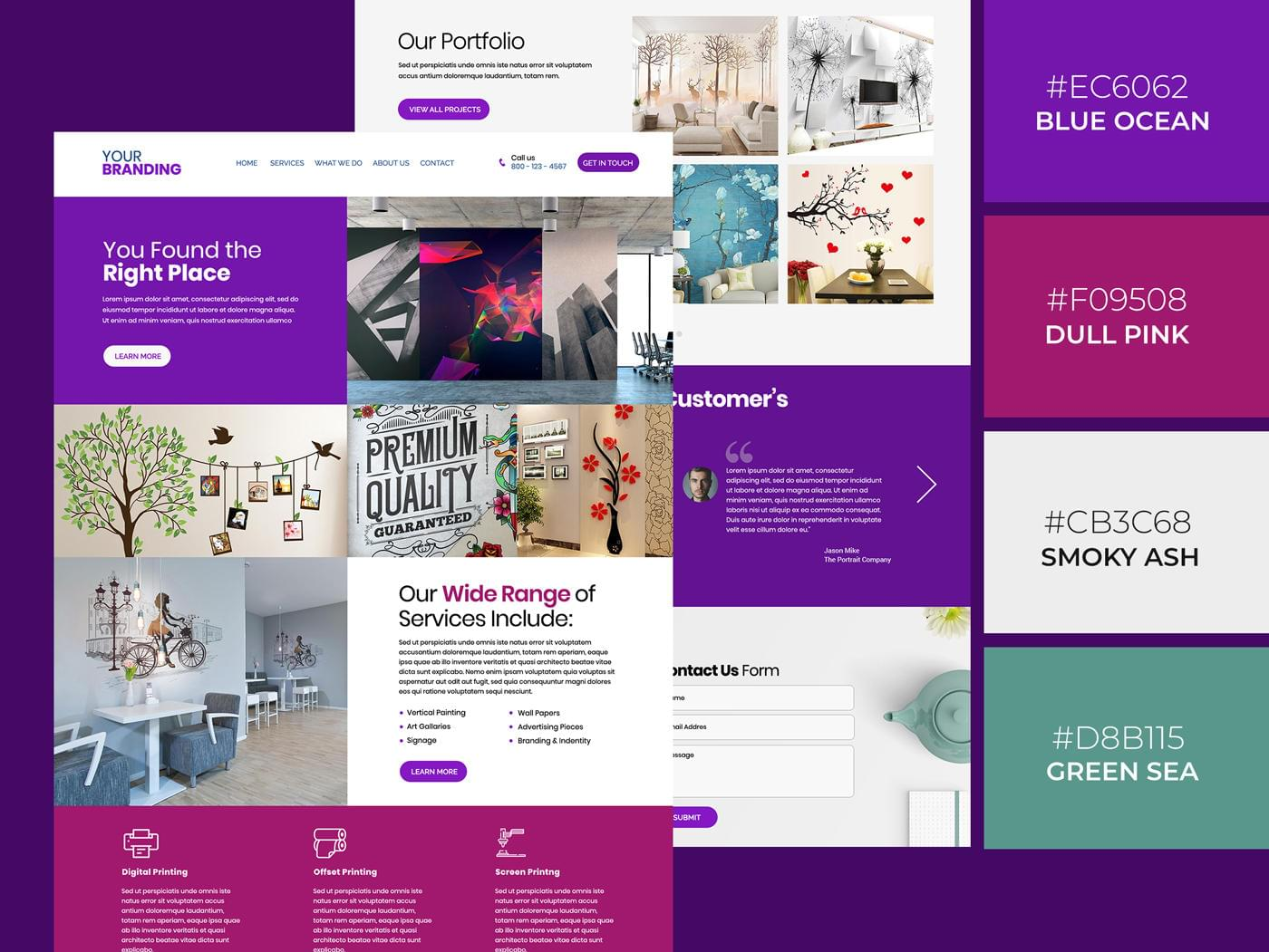 Professional Landing Page Design by MuhammadAbbas - 112562