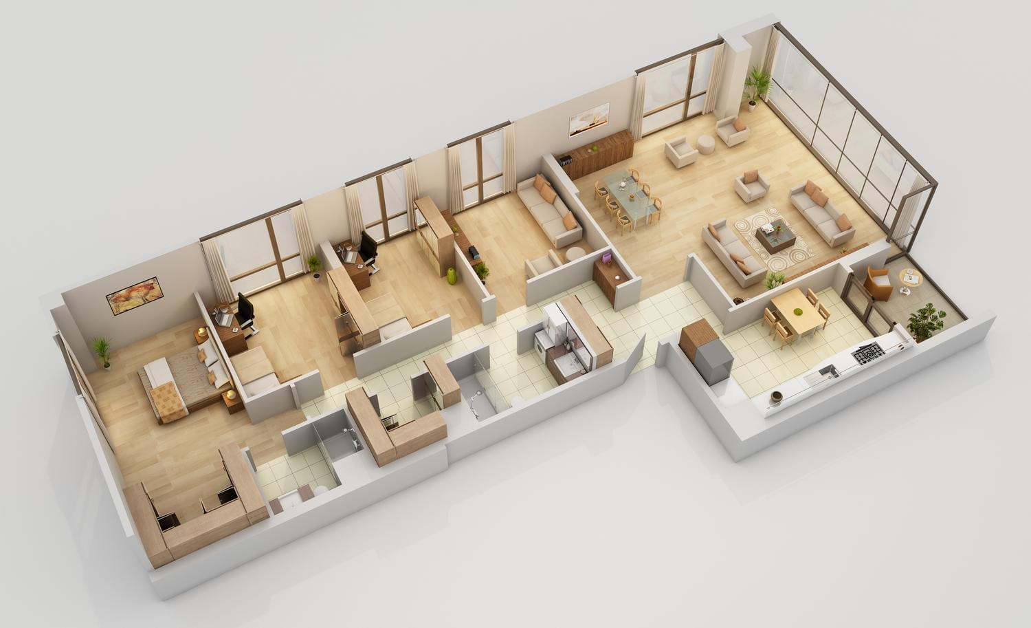 3D Floor Plan Modeling & Rendering by YFguney - 113234