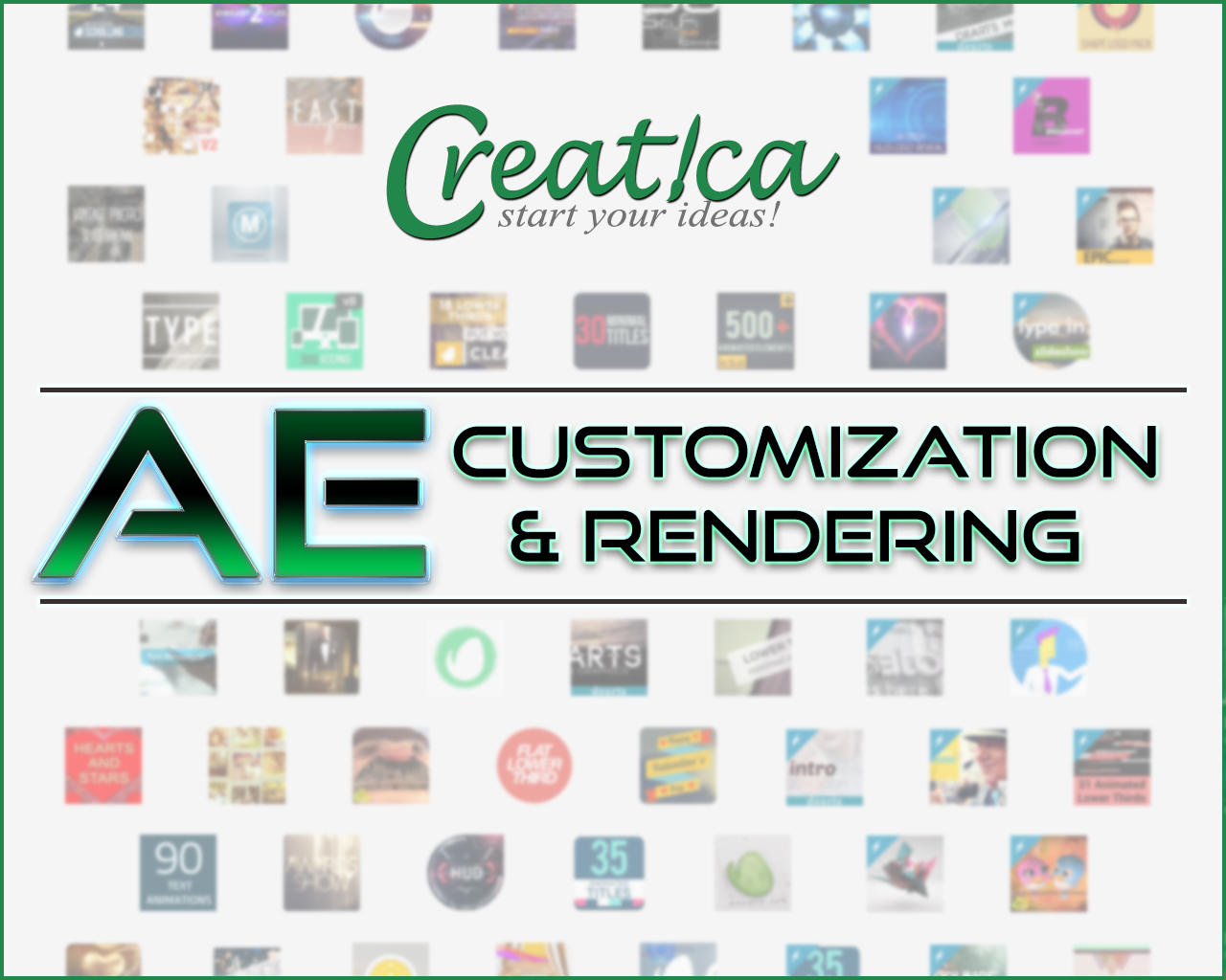 After Effects Template Customization and Rendering by CreaticaStudio - 70021