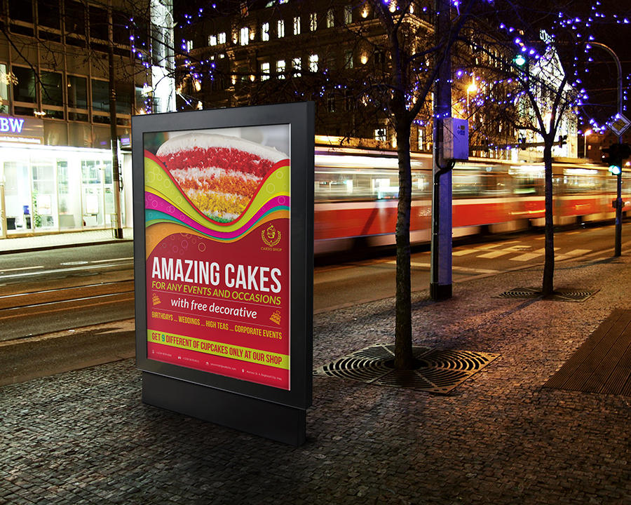 Cake Poster Street Design Template by OWPictures - 51898
