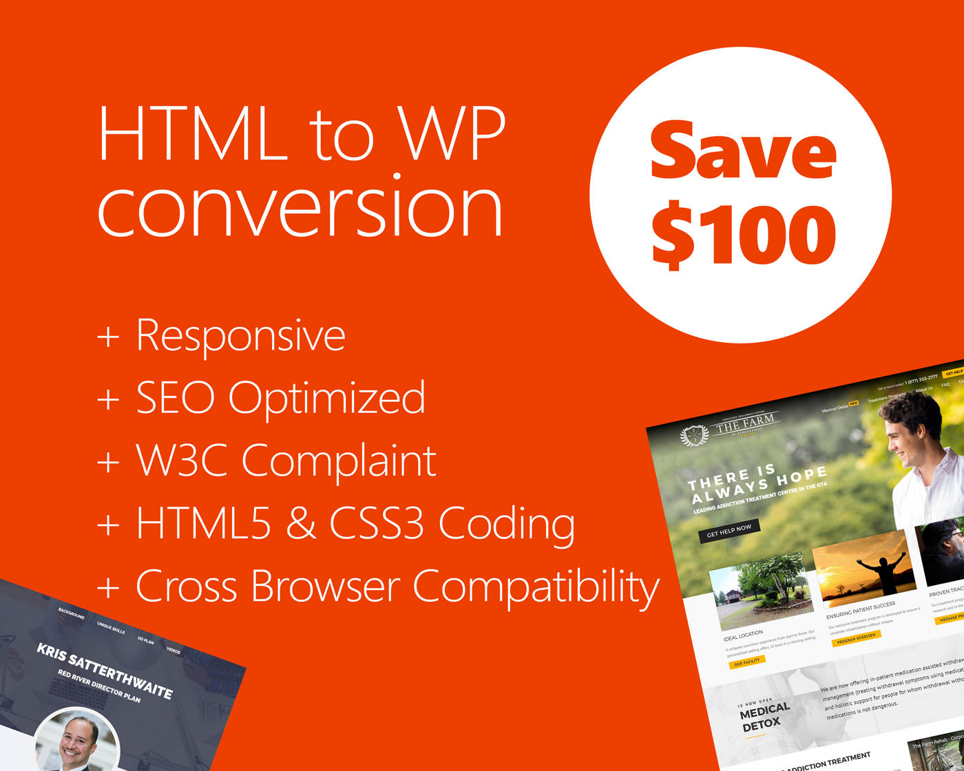 HTML to Wordpress Conversion (Responsive - Pixel Perfect) by hasanet - 109808