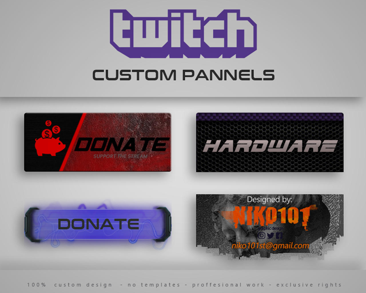 Twitch Channel Customization Design by NIKO101 - 107770
