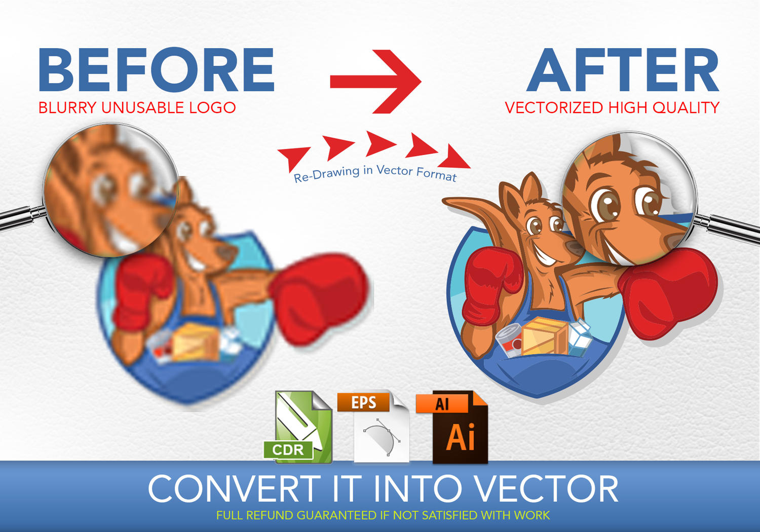 Convert Your Logo or drawing into vector  by Graphicsc - 102460
