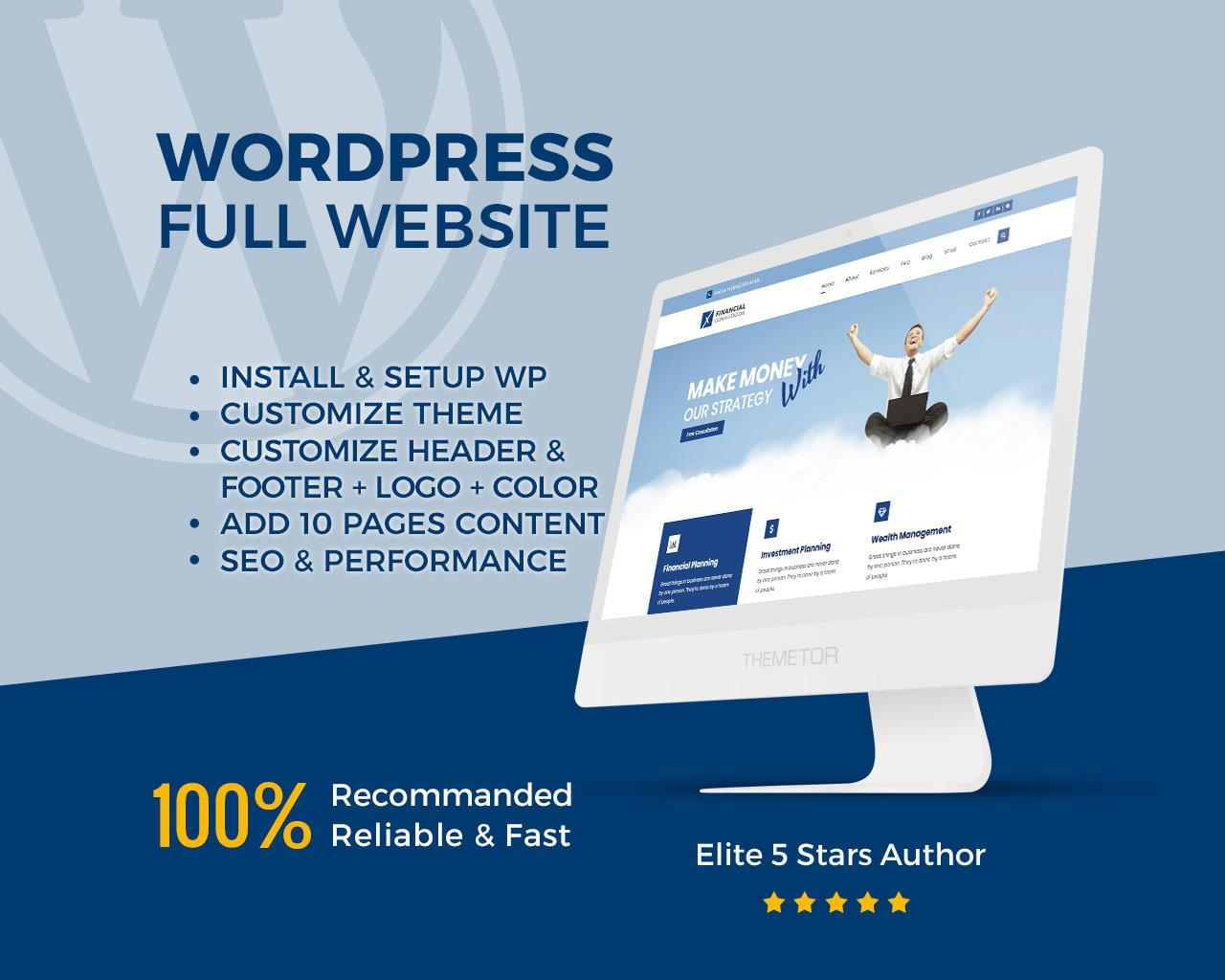 Professional Responsive Wordpress Full Website Design and Development by ThemeTor - 113117