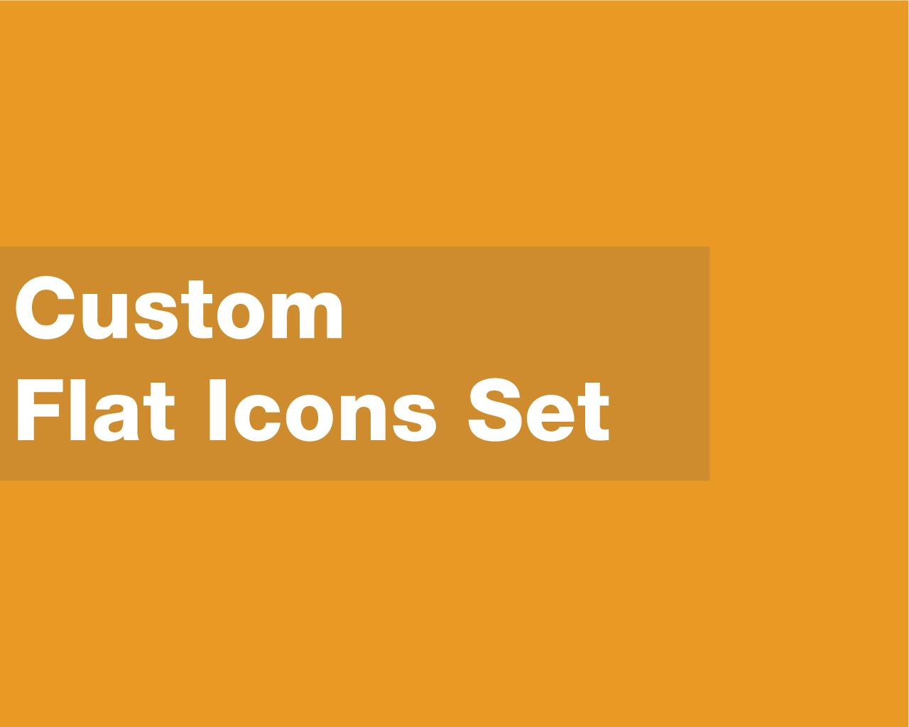Custom Flat Icons Set by bolpent - 77562