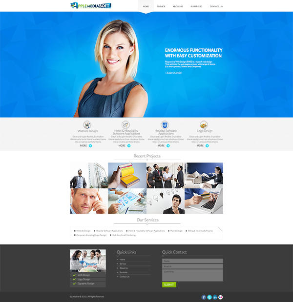 One Page Website Designs by logodesire - 49109