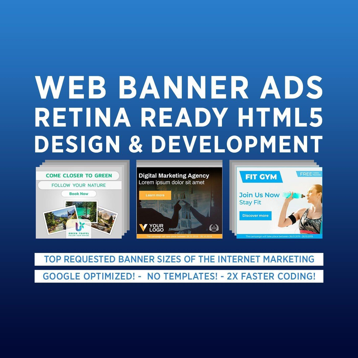 Retina-ready Professional HTML5 Banner ( Design & Development ) by cihanzengin - 114469