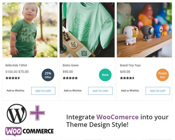 Integrate & Setup WooCommerce Plugin Based on your Theme Design by VictorThemes - 54486