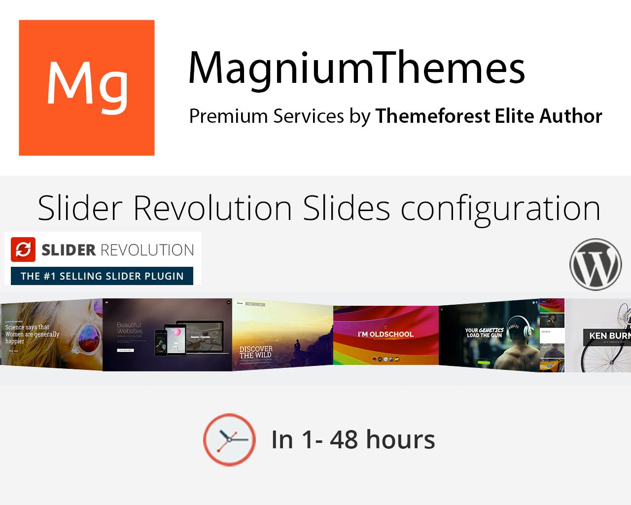 revolution slider slides configuration wp premium animated