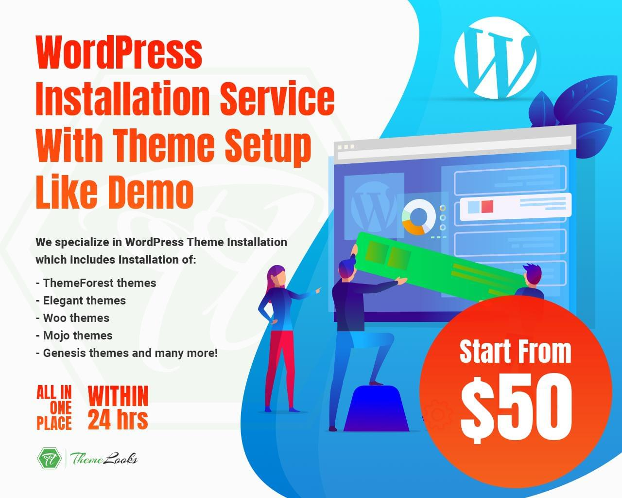 WordPress Installation Service With Theme Setup Like Demo by themelooks - 113907