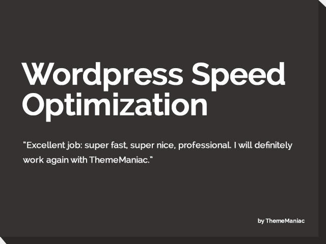 WordPress Speed Optimization by ThemeManiac - 54181