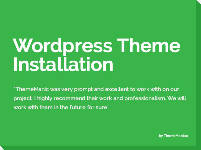 Express WordPress Theme Installation by ThemeManiac - 54183