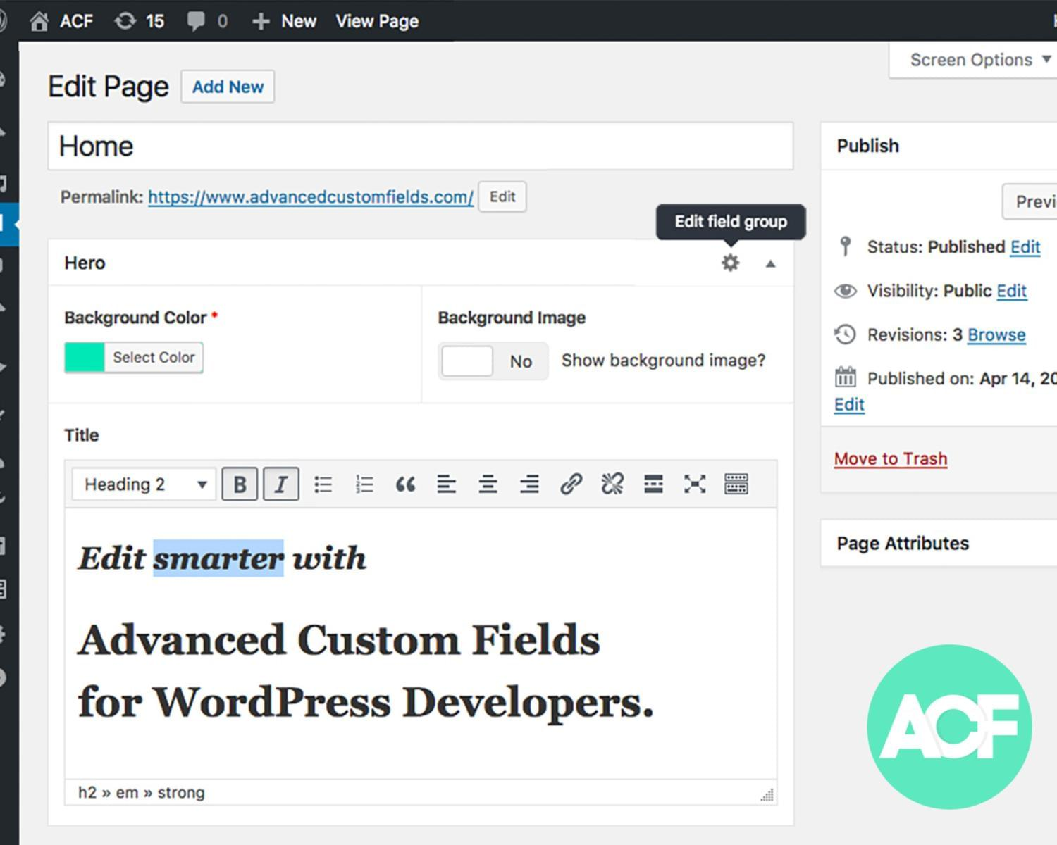 Custom Elements with Advanced Custom Fields Plugin for WordPress by iwthemes - 115924