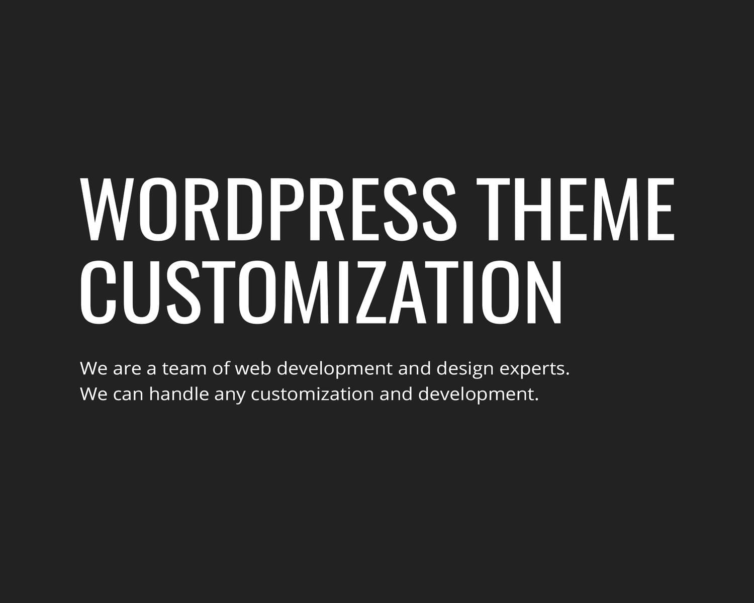 WordPress Theme Customization by gljivec - 114598