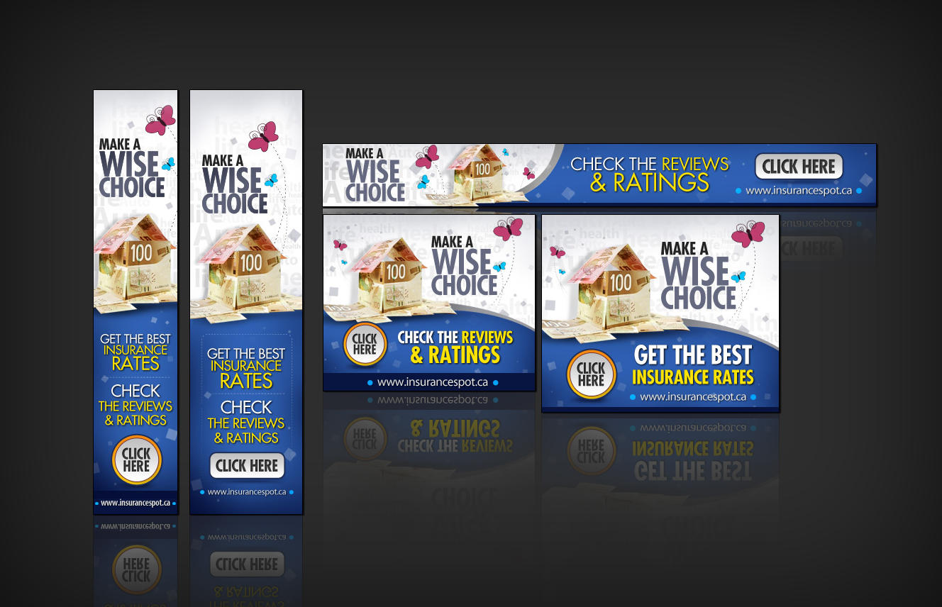 Custom Banner Set for AdRoll - 16 sizes by Hyov - 6746