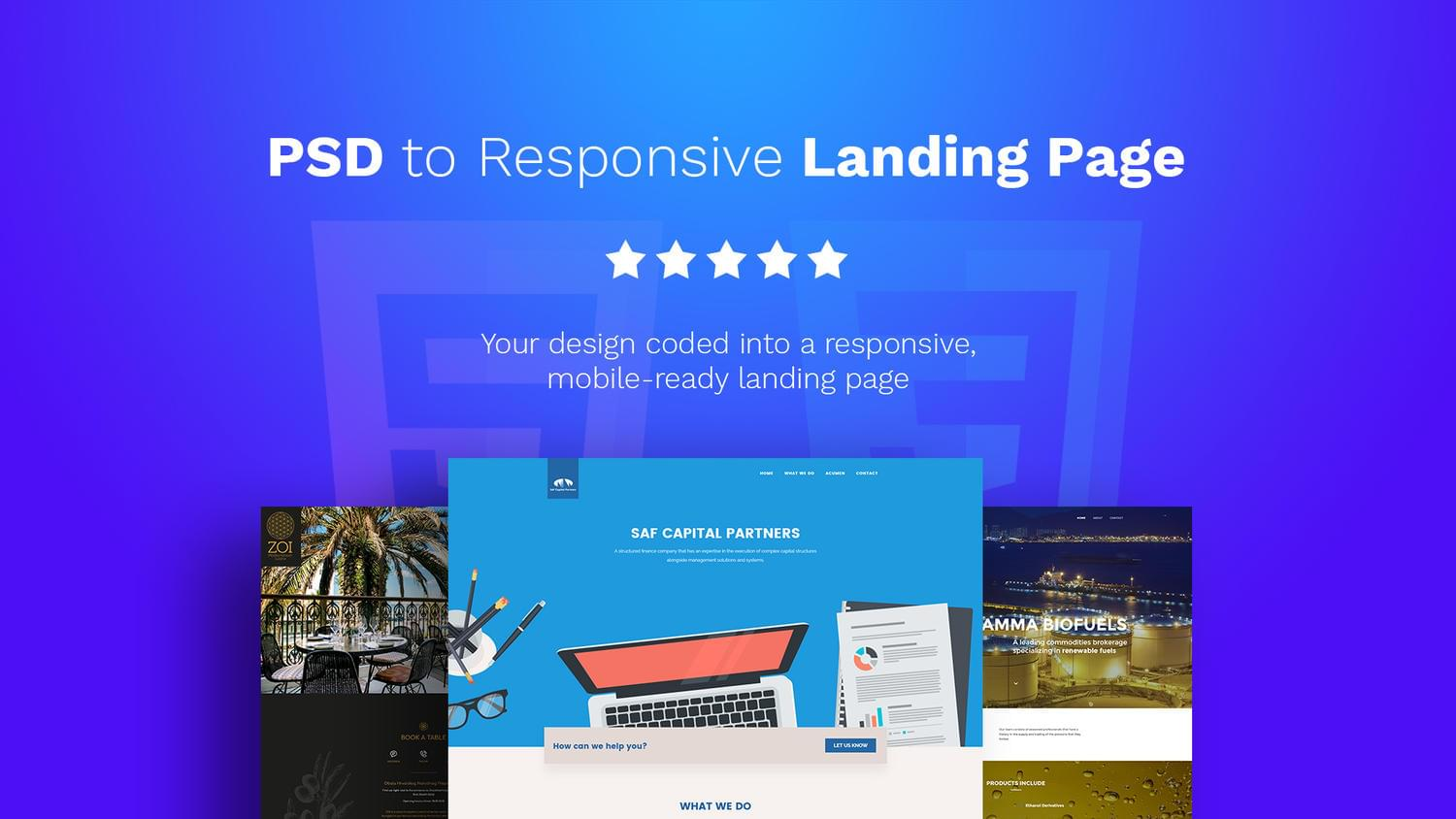 PSD to Landing Page HTML5, CSS3, SASS, JS by OliverMarcetic - 111988