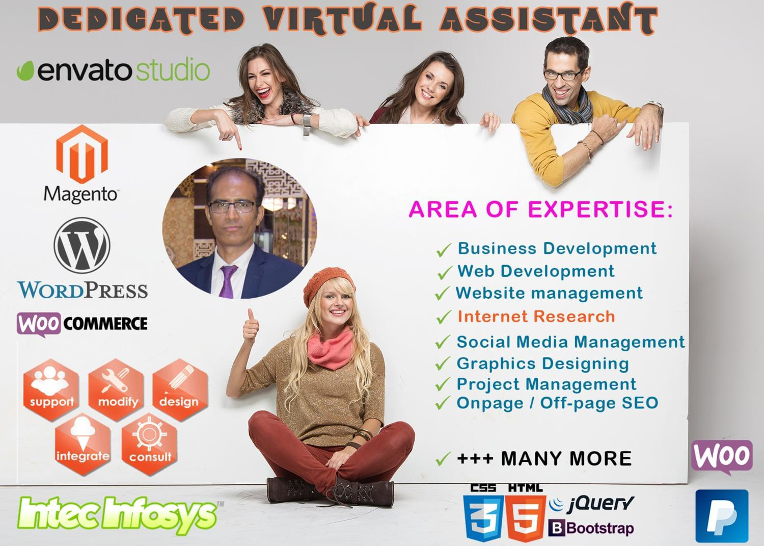 Your Personal Virtual Assistant for Web Development, SEO, eCommerce by intecinfosys - 114255