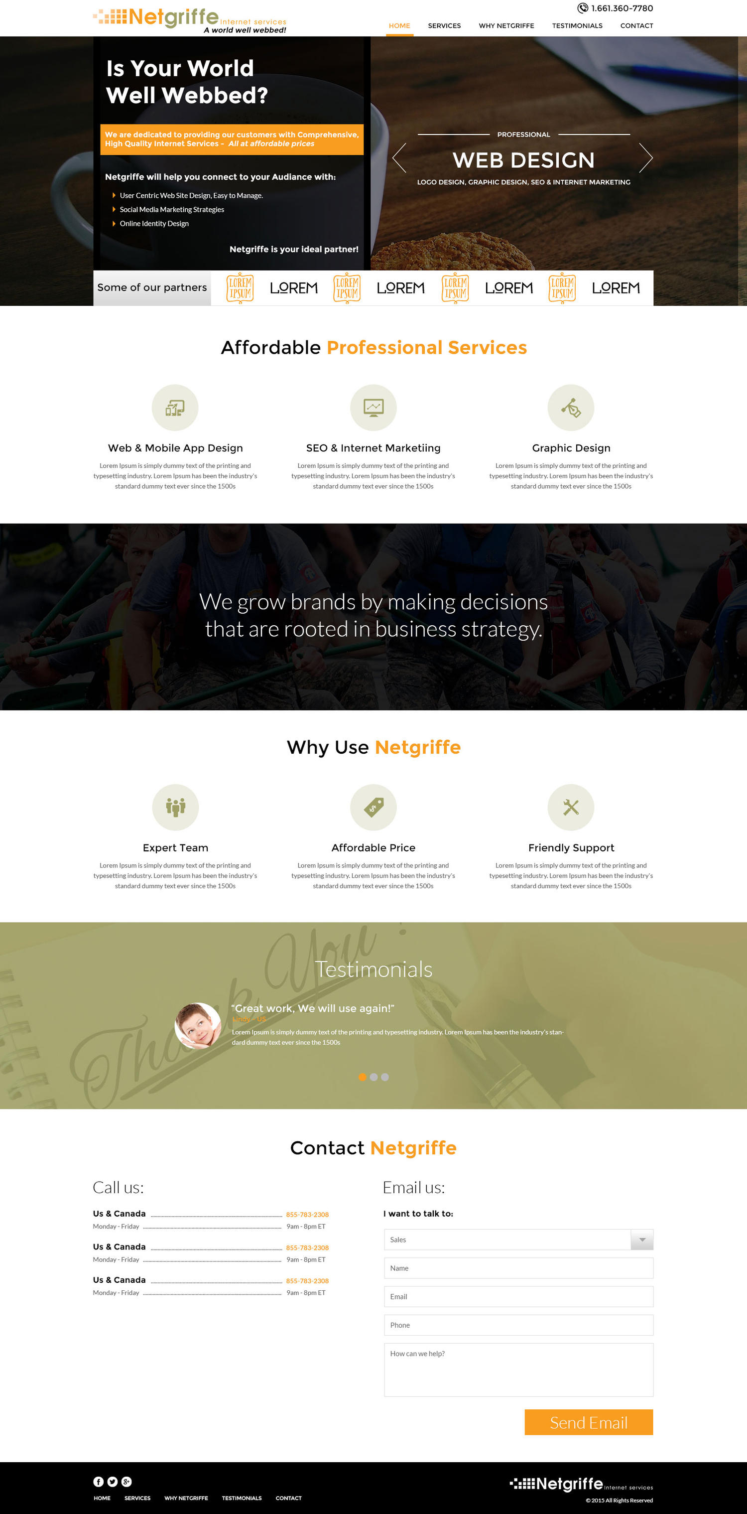 Onepage Website Design by BarwalDesigns - 101427