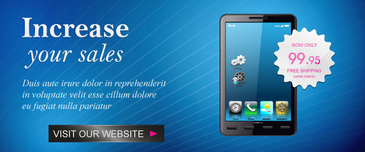 Web Banner Ads by SwirlVector on Envato Studio