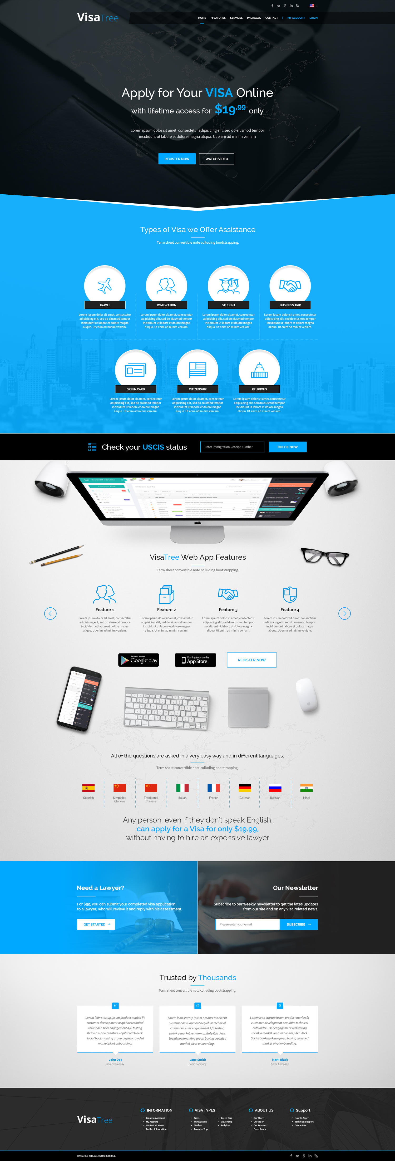 Premium Landing / One Page Web Design by AndiG - 72514