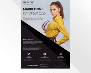professional corporate poster design by fidanselmani on envato studio