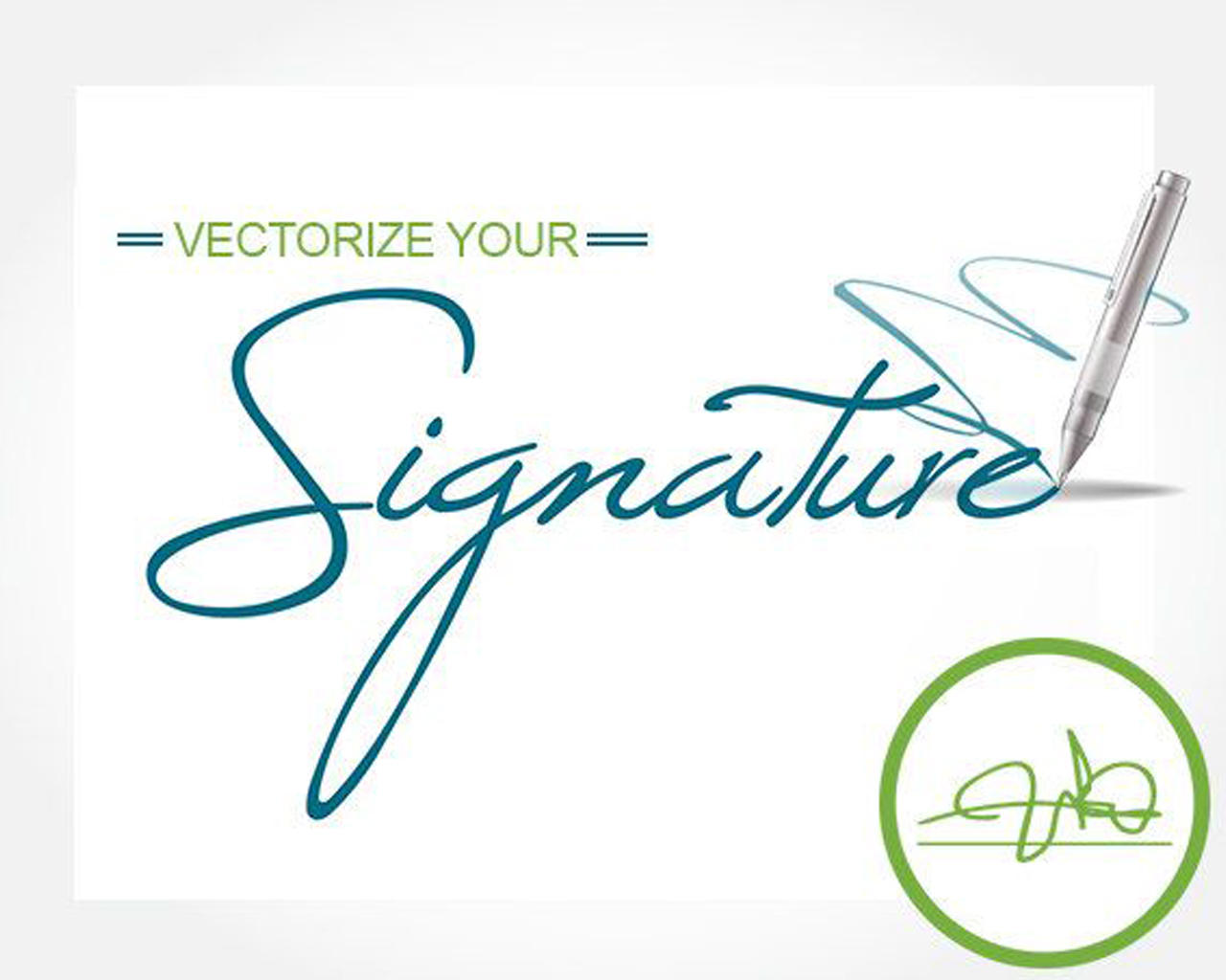Vectorize, Trace, Redraw Your Very Own Hand Drawn Signature Logo by Qreati - 111018