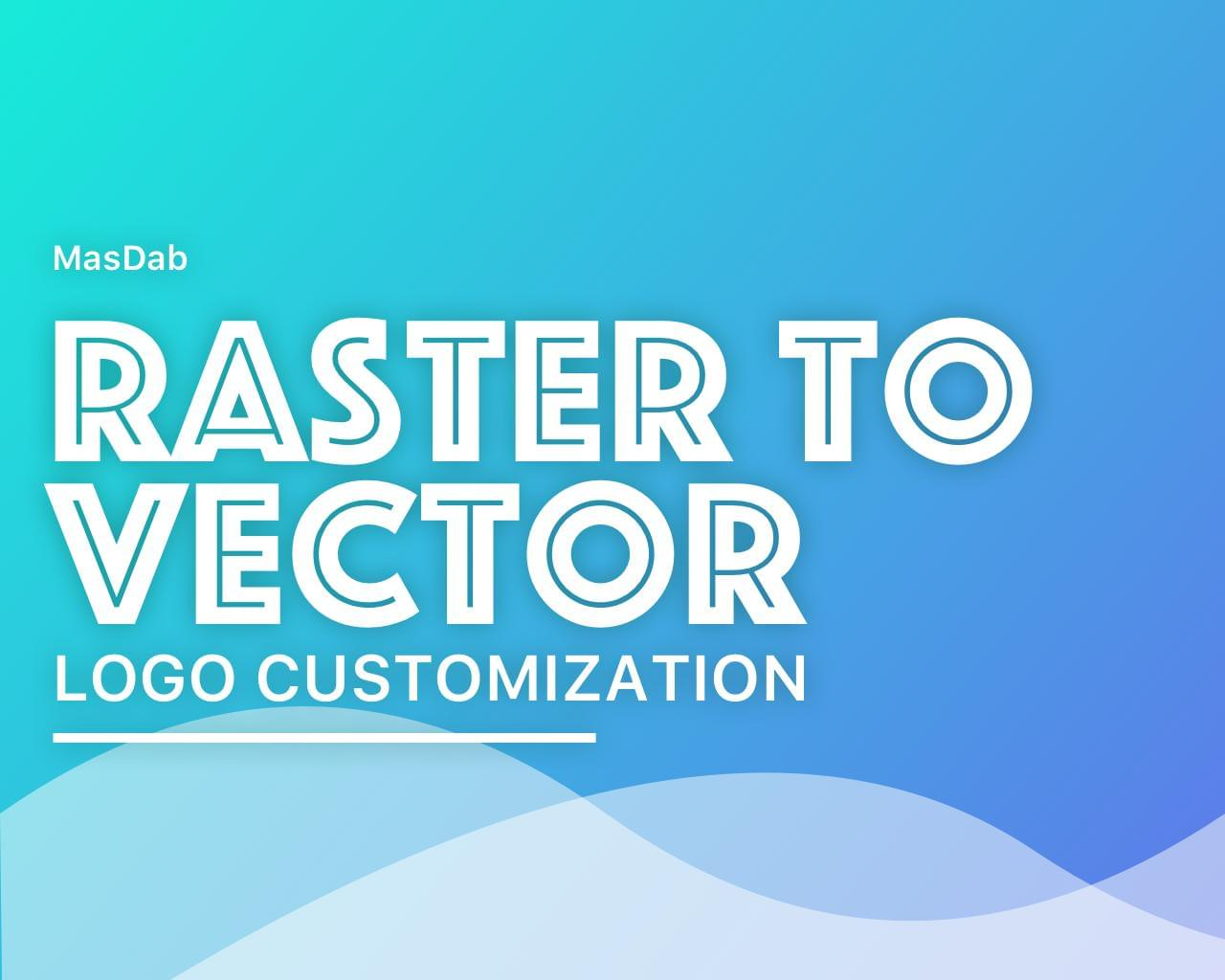 Raster Logo Image to Vector Conversion by masdab - 113491