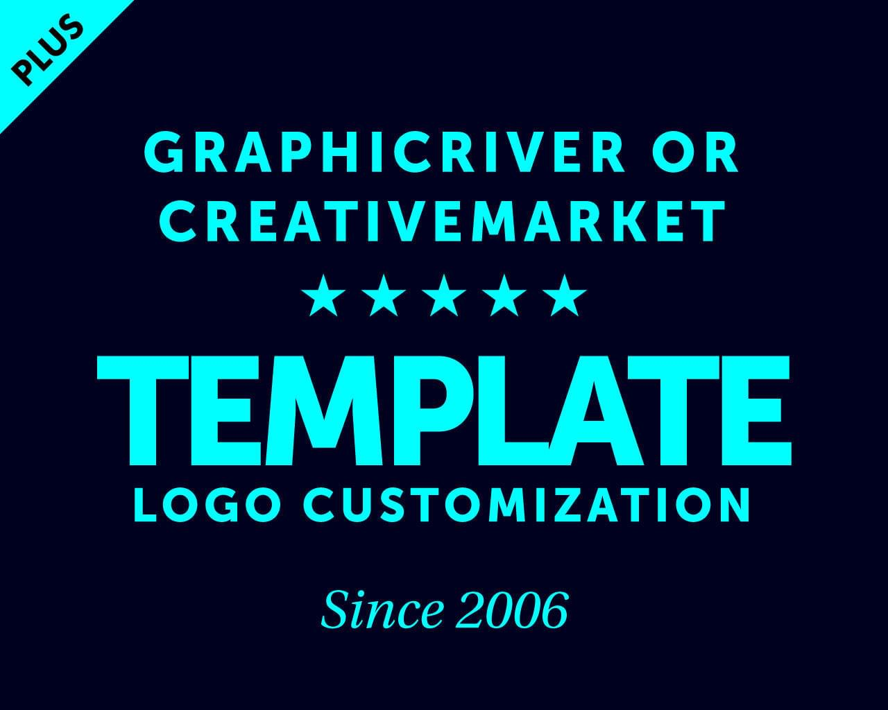 Logo Template Customization, Logo Service (GraphicRiver, Creative Market or others...) by AnasProStudio - 116651