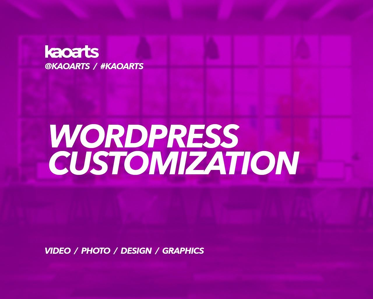 WordPress Theme Customization by Kaoarts - 95848