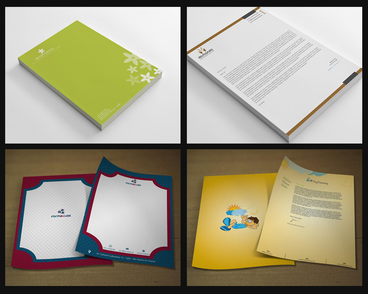 Corporate Letterhead Design  by shujaktk - 75369