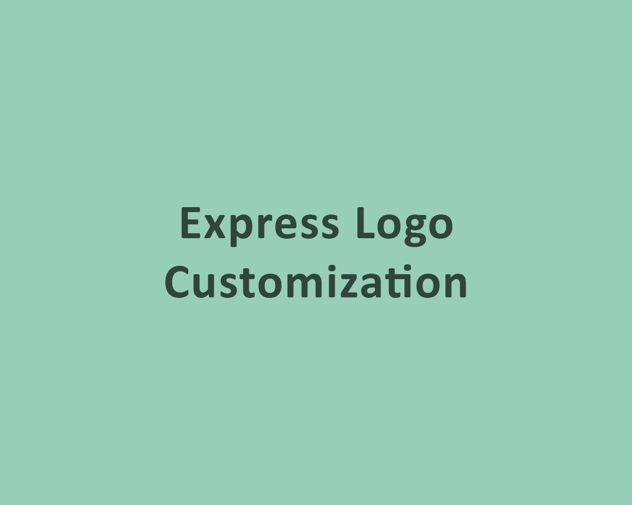 Express Logo Customization by odiusfly - 105969
