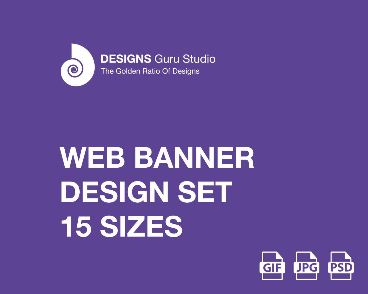Web Banner Design Set - 15 Sizes by designsgurustudio - 117263