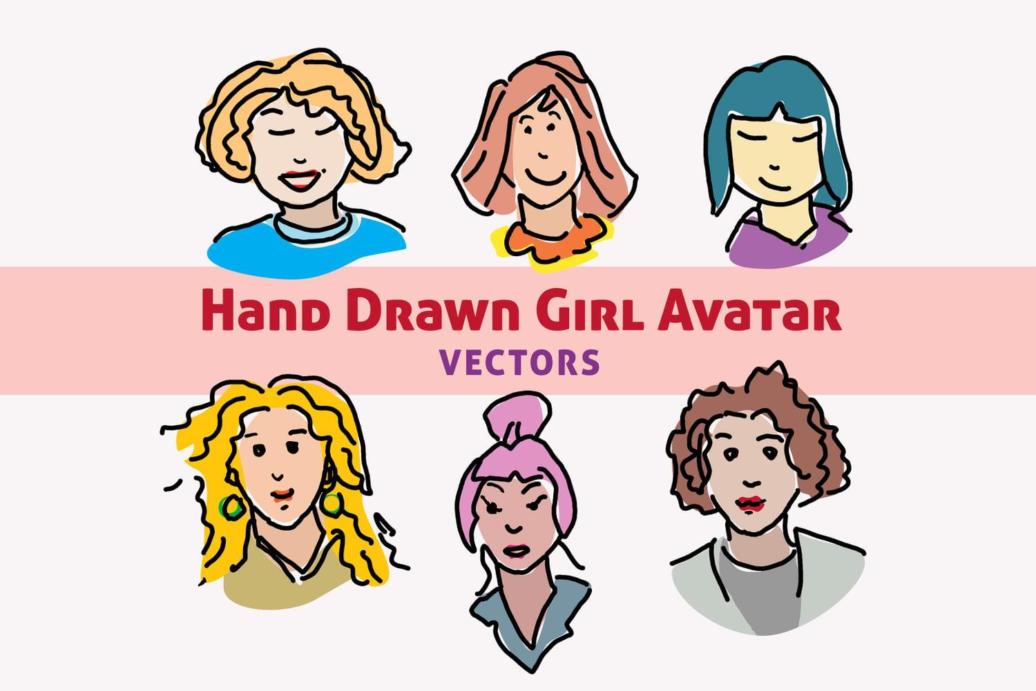 5 Hand Drawn Vector Avatars by GraphicIdentity - 115889