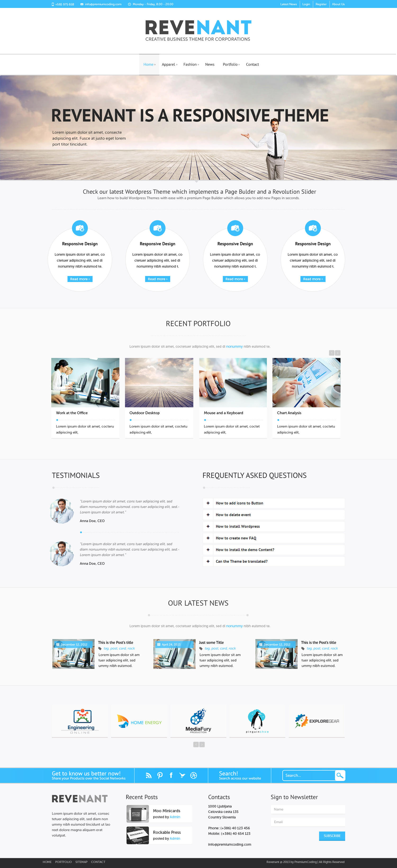 Premium Design of Home Page by gljivec - 8432