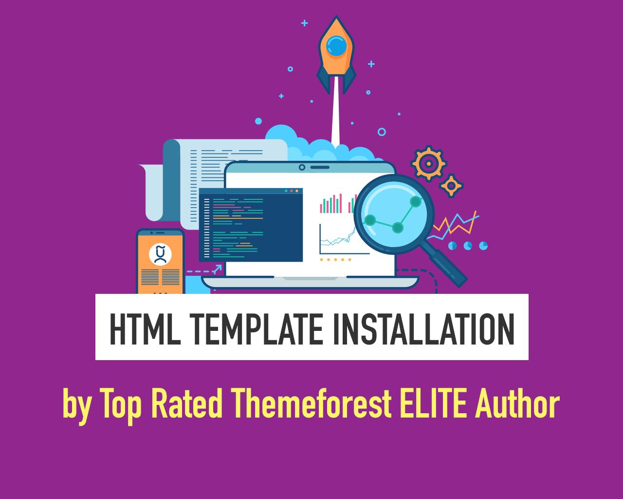HTML Template Installation and Customization by Ansonika - 108192