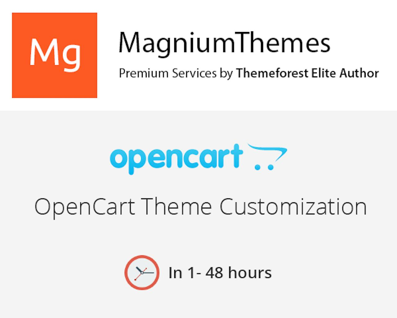 Premium OpenCart Theme Customization (colors, features, layouts, etc) by Elite Author Team by dedalx - 105779
