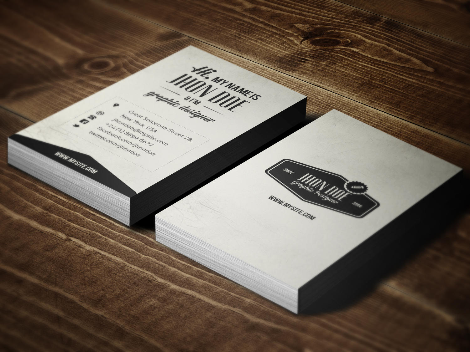 Vintage Business Card by SAOStudio on Envato Studio