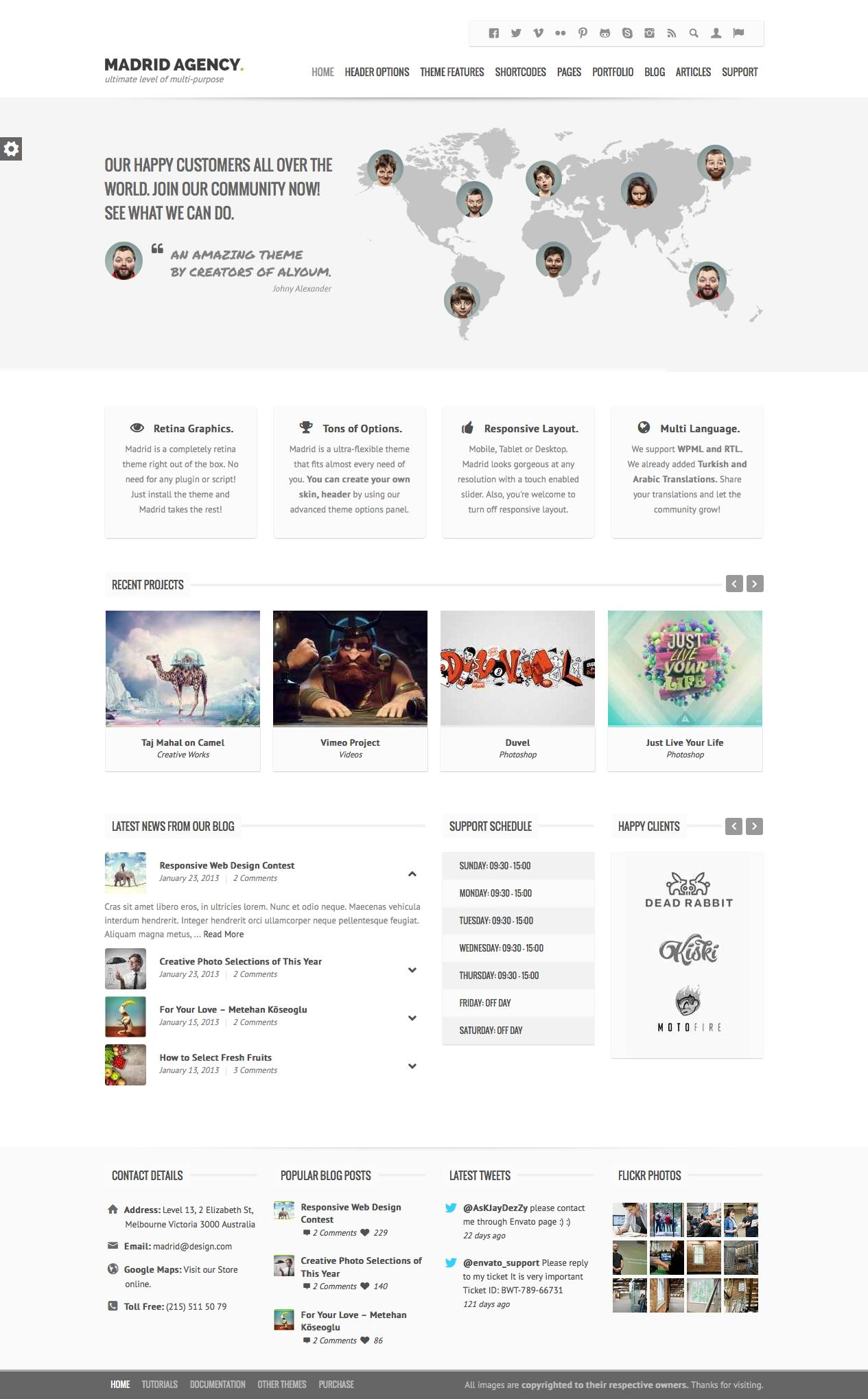 PSD to Full WordPress Theme by Code125 - 16799