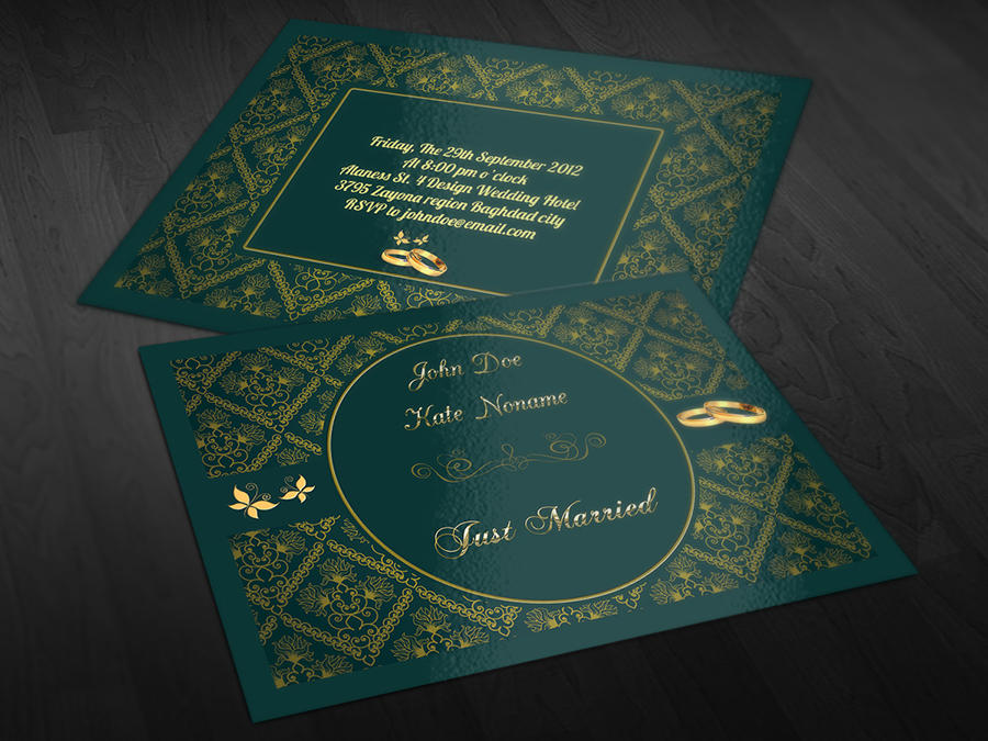 Wedding invitation card design by owpictures on envato studio wedding invitation card design stopboris Image collections